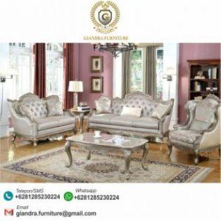 Sofa Set Tamu Ukir Klasik Mewah Shakira