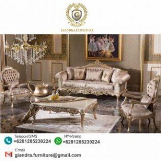 Sofa Set Tamu Ukir Mewah Terbaru Villia