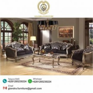 Sofa Set Tamu Ukir Model Klasik Antoni
