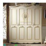 Lemari Baju Ukir Cantik 4 Pintu Clorina
