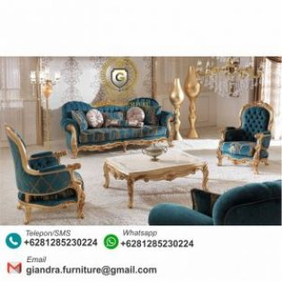 Set Sofa Tamu Klasik Elegan Kodiya