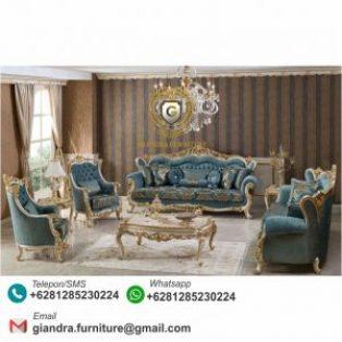 Set Sofa Tamu Klasik Mewah Terbaru Valencia