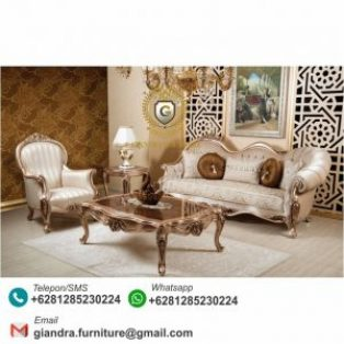 Set Sofa Tamu Klasik Modern Barton
