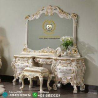 Meja Rias Klasik Ukir Mewah Rococo