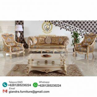 Set Sofa Tamu Klasik Mewah Hillario