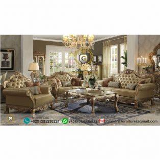 Set Sofa Tamu Jati Mewah Brawijaya
