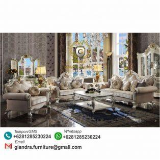Set Sofa Tamu Klasik Mewah Alexandra