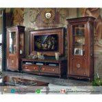 Bufet TV Hias Jati Ukir Mewah Aida