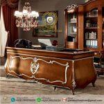 Meja Kantor Direktur Jati Mewah Bombay